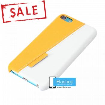 Чехол Jisoncase Slim Fit для iPod touch 5 / 6 Yellow / White желтый с белым