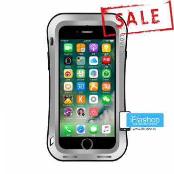 Чехол Love Mei Deff Cleave для iPhone 7/8/SE серебристый