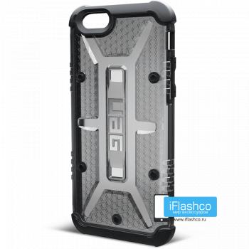 Чехол Urban Armor Gear Ash для iPhone 6 / 6s черный прозрачный