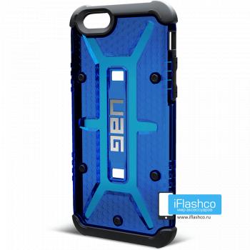 Чехол Urban Armor Gear Cobalt для iPhone 6 / 6s синий прозрачный