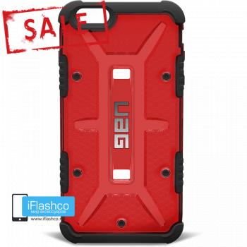 Чехол Urban Armor Gear Magma для iPhone 6 Plus / 6s Plus красный прозрачный