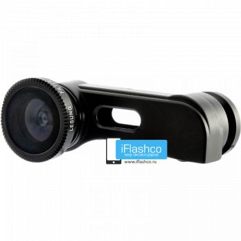 Объектив на две камеры Fisheye 180°+Macro+Wide 3-в-1 для iPhone 5 / 5S / SE