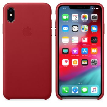 Чехол Apple Leather Case Red для iPhone XS Max