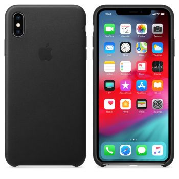 Чехол Apple Leather Case Black для iPhone XS Max