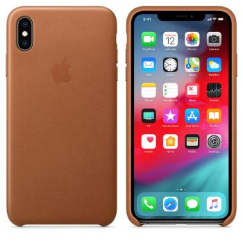 Чехол Apple Leather Case Saddle Brown для iPhone XS Max