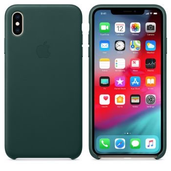 Чехол Apple Leather Case Forest Green для iPhone XS Max