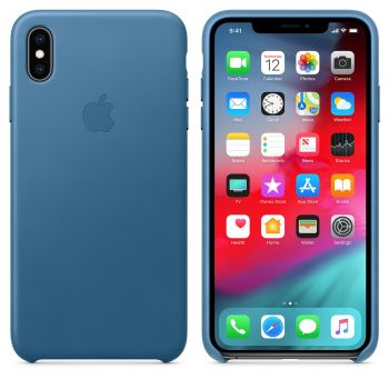 Чехол Apple Leather Case Cape Cod Blue для iPhone XS Max