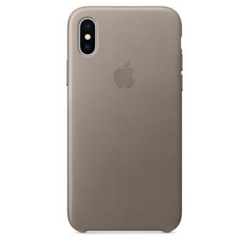 Чехол Apple Leather Case Taupe для iPhone X/Xs