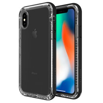 Противоударный чехол LifeProof NËXT Black Crystal для iPhone X/XS