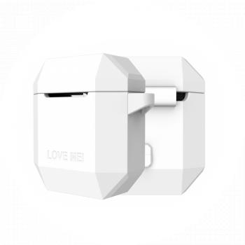 Чехол защитный Love Mei для Apple AirPods White белый