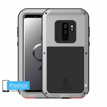 Чехол Love Mei Powerful для Samsung Galaxy S9+ Silver серебристый