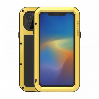 Ударопрочный чехол Love Mei Powerful для iPhone 11 Pro Max Yellow