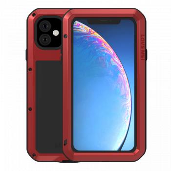 Ударопрочный чехол Love Mei Powerful для iPhone 11 Red