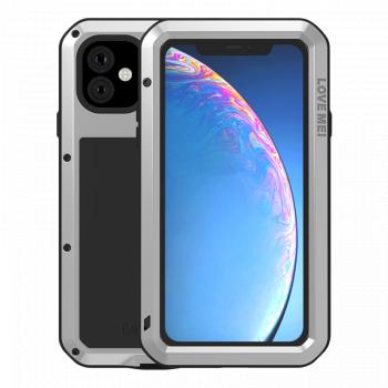 Ударопрочный чехол Love Mei Powerful для iPhone 11 Silver