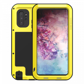 Ударопрочный чехол Love Mei Powerful Yellow для Samsung Galaxy Note 10+