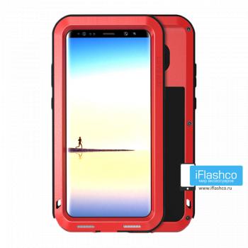 Чехол Love Mei Powerful для Samsung Galaxy Note 8 красный