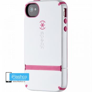 CandyShell Flip для iPhone 4 / 4S белый с розовым