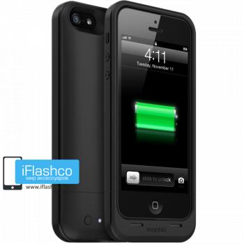 Чехол-аккумулятор Mophie Juice Pack Air Black для iPhone 5 / 5S / SE черный