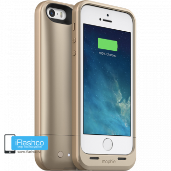 Чехол-аккумулятор Mophie Juice Pack Air Gold для iPhone 5 / 5S / SE золотой
