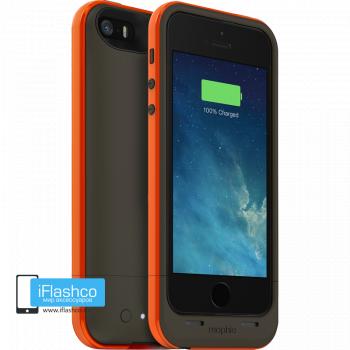Чехол-аккумулятор Mophie Juice Pack Air Outdoor Edition для iPhone 5 / 5S / SE серый с оранжевым