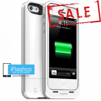 Чехол-аккумулятор Mophie Juice Pack Air White для iPhone 5 / 5S / SE белый