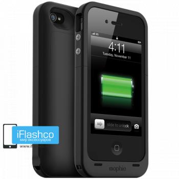 Чехол-аккумулятор Mophie Juice Pack Plus для iPhone 4 / 4S черный