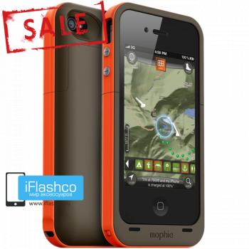 Чехол-аккумулятор Mophie Juice Pack Plus Outdoor Edition для iPhone 4 / 4S оранжевый