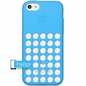 Чехол Apple Case для iPhone 5C голубой