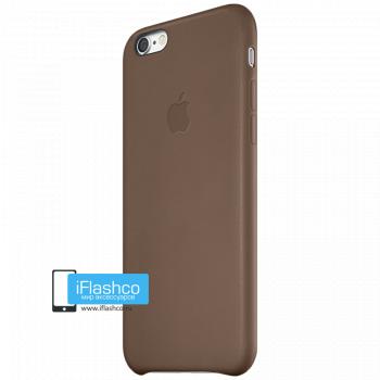 Чехол Apple Leather Case Brown для iPhone 6 / 6s темно-коричневый