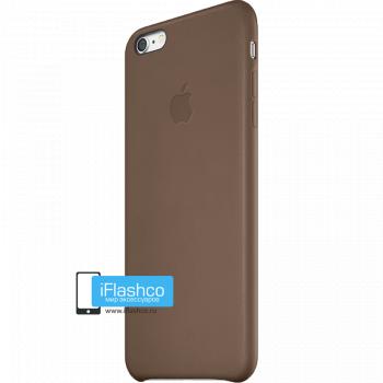 Чехол Apple Leather Case Brown для iPhone 6 Plus / 6s Plus коричневый