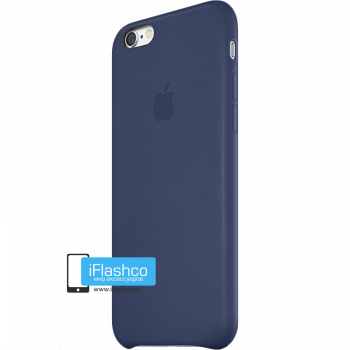 Чехол Apple Leather Case Midnight Blue для iPhone 6 / 6s темно-синий