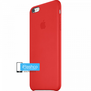 Чехол Apple Leather Case (PRODUCT) RED для iPhone 6 Plus / 6s Plus красный
