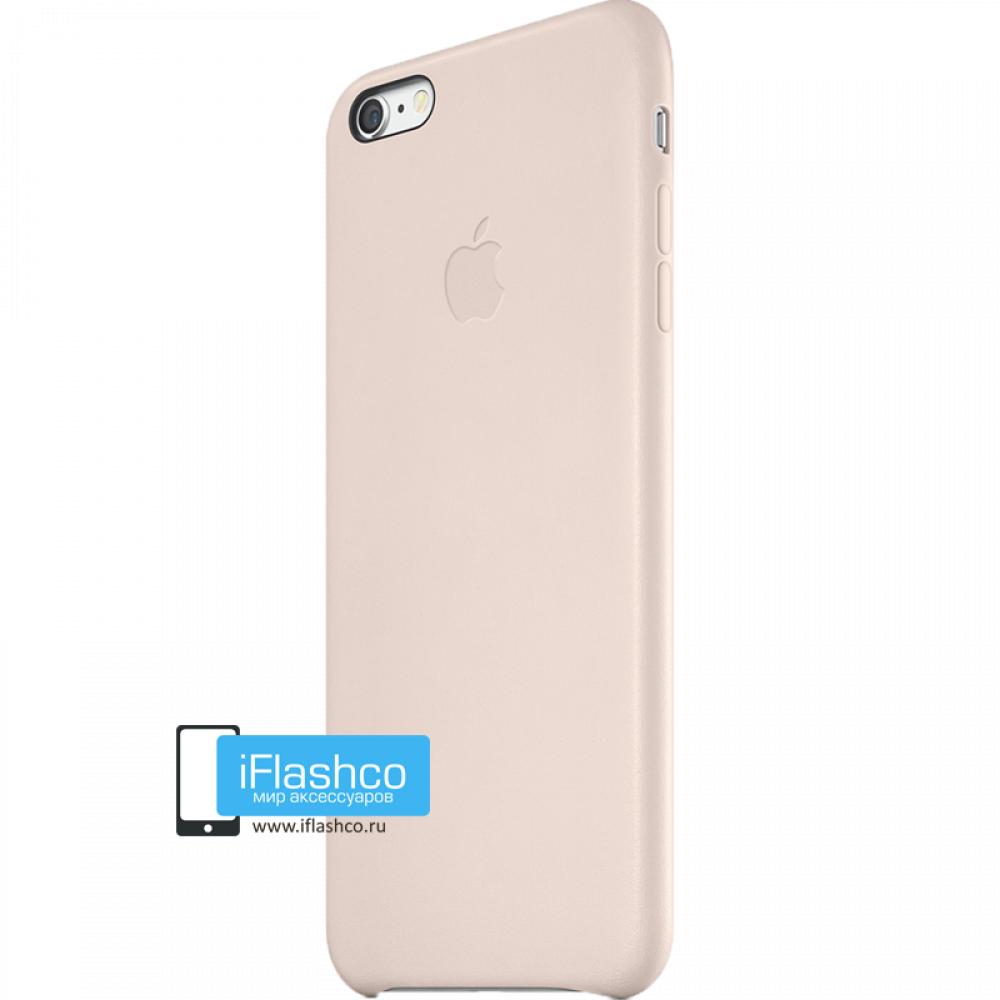 low priced 3ea61 01ca7 Купить Чехол Apple Leather Case Rose Gray для iPhone 6 Plus / 6s ...