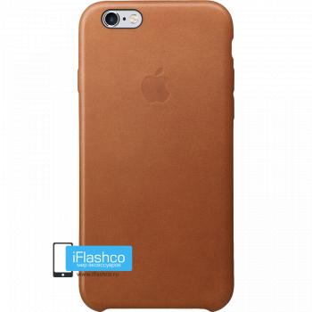 Чехол Apple Leather Case Saddle Brown для iPhone 6 / 6s коричневый