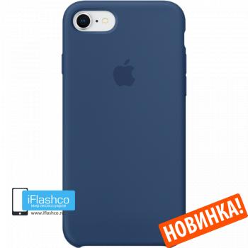 Чехол Apple Silicone Case для iPhone 7 / 8 Blue Cobalt