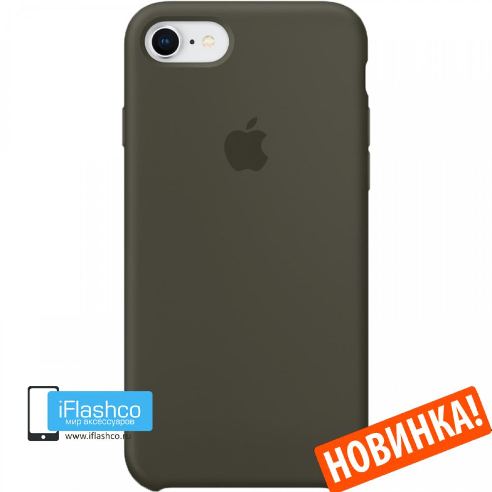 best service bd74a 393d0 Чехол Apple Silicone Case для iPhone 7 / 8 Dark Olive