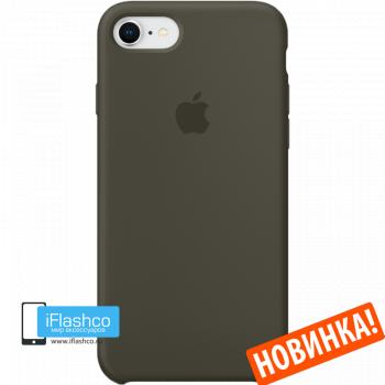 Чехол Apple Silicone Case для iPhone 7 / 8 Dark Olive