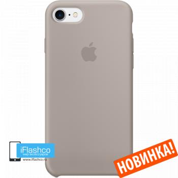 Чехол Apple Silicone Case для iPhone 7 / 8 / SE Pebble