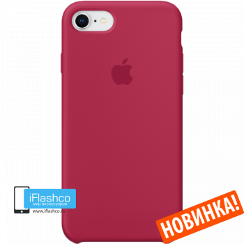 Чехол Apple Silicone Case для iPhone 7 / 8 Rose Red