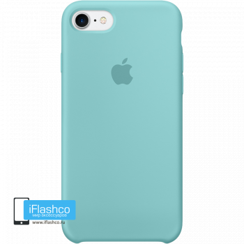 Чехол Apple Silicone Case для iPhone 7 / 8 / SE Sea Blue