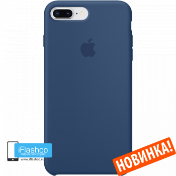 Чехол Apple Silicone Case для iPhone 7 Plus / 8 Plus Blue Cobalt