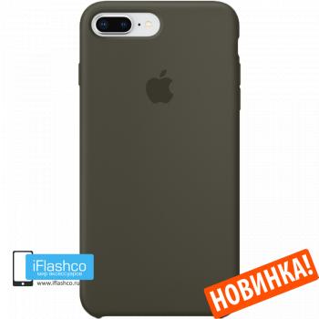 Чехол Apple Silicone Case для iPhone 7 Plus / 8 Plus Dark Olive