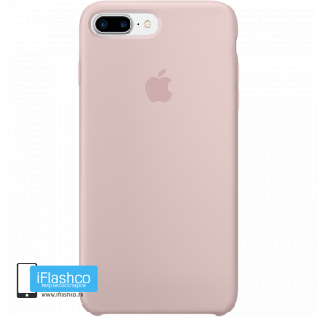 Чехол Apple Silicone Case для iPhone 7 Plus / 8 Plus Pink Sand
