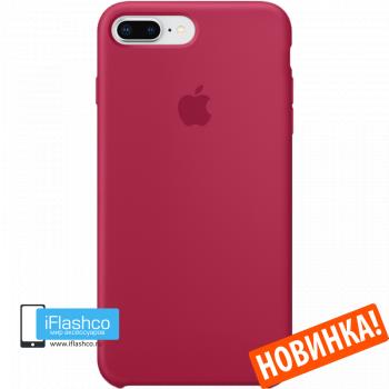 Чехол Apple Silicone Case для iPhone 7 Plus / 8 Plus Rose Red