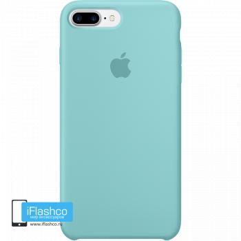 Чехол Apple Silicone Case для iPhone 7 Plus / 8 Plus Sea Blue
