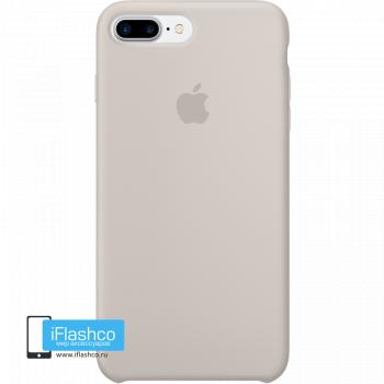 Чехол Apple Silicone Case для iPhone 7 Plus / 8 Plus Stone