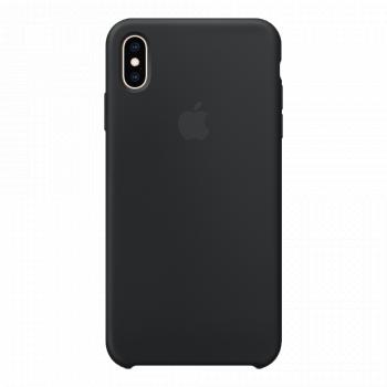 Силиконовый чехол для iPhone XS Max черный (оригинал)