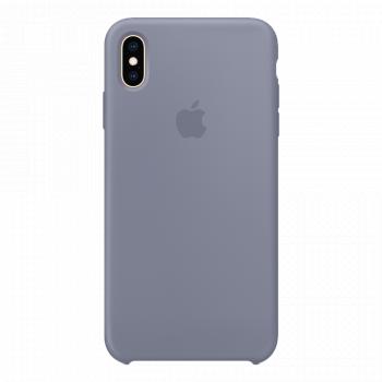 Силиконовый чехол для iPhone XS Max серый (оригинал)