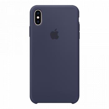 Силиконовый чехол для iPhone XS Max Midnight Blue (оригинал)