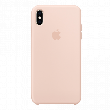 Силиконовый чехол для iPhone XS Max розовый (оригинал)
